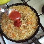 Рецепт риса с капустой и томатным соусом - греческий лаханоризо