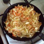 Тушеная капуста и рис - приготовление