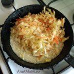 Рис с капустой в сковороде - способ приготовления