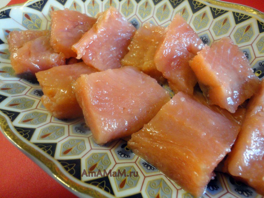 Приготовление красной рыбы домашнего посола - рецепт кеты