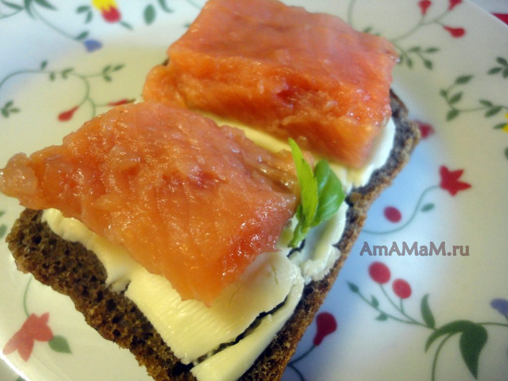 Кета соленая - домашний рецепт