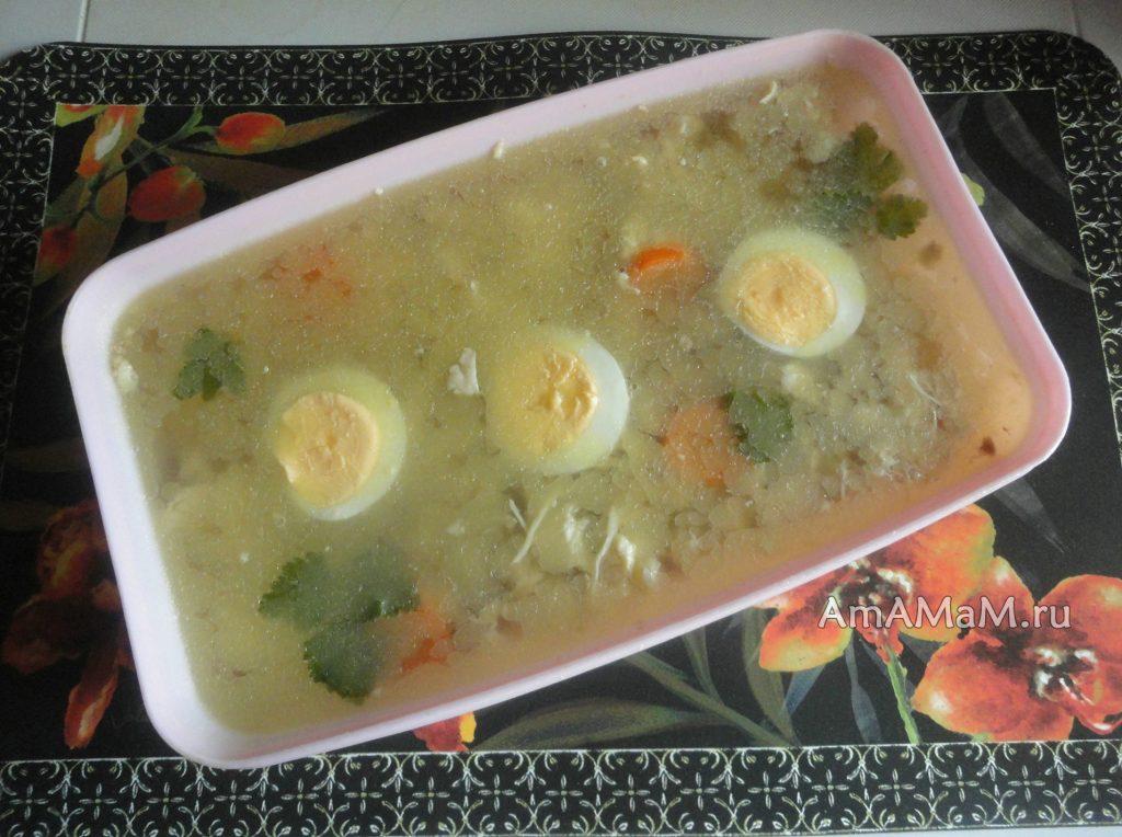 Студень куриный с желатином - рецепт с фото