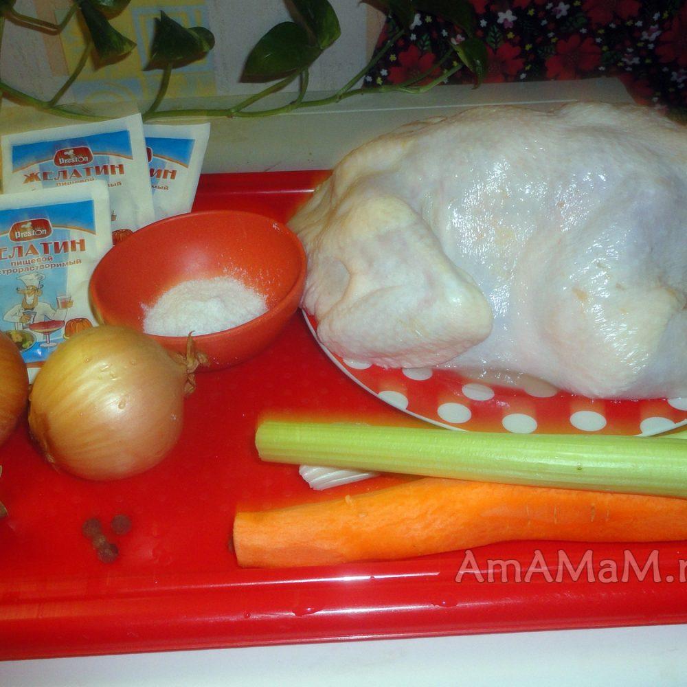 Холодец рецепт пошагово из курицы магазинной с желатином