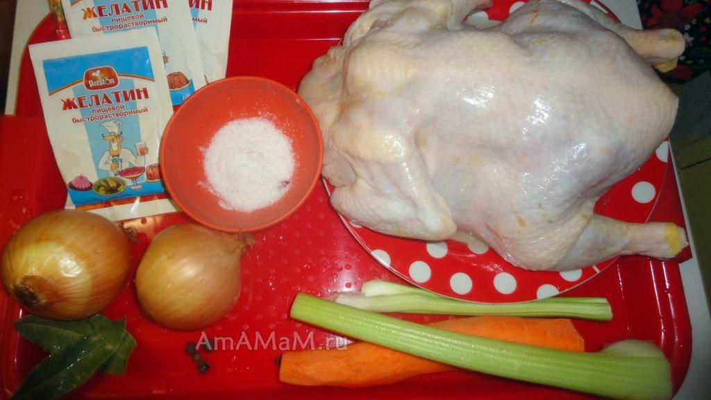 Куриный холодец с желатином - рецепт и фото пошаговые