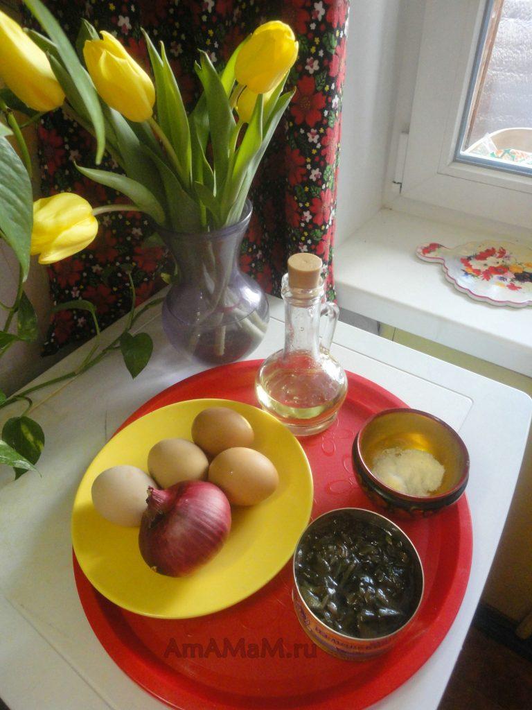 Состав салата из морской капусты и рецепт приготовления