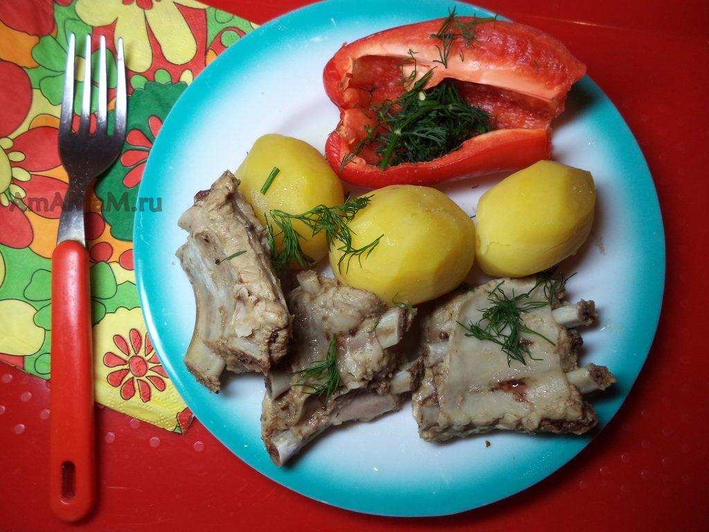 Рецепт свиных ребрышек с фото