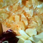Способ приготовления мармелада из бергамота с яблоками - нарезка