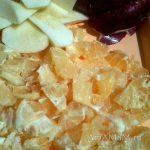 Бергамот и яблоки в нарезке для варенья (мармелада)