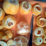 Как делают полосочки кожуры для цукатов из бергамота - фото