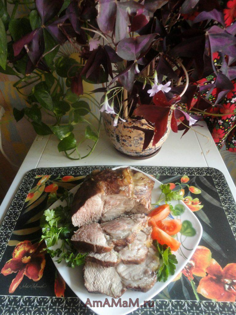 Вкусное домашнее мясо - свинина с чесноком в соевом соусе - рецепт с фото
