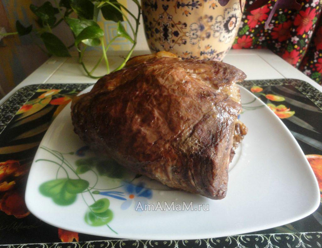 Процесс приготовления буженины в соевом соусе без соли с чесноком - рецепт и пошаговые фото