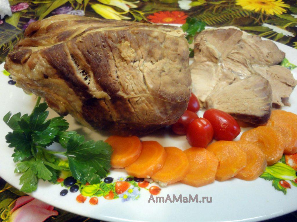 Буженина домашнего приготовления из свинины (шейки)