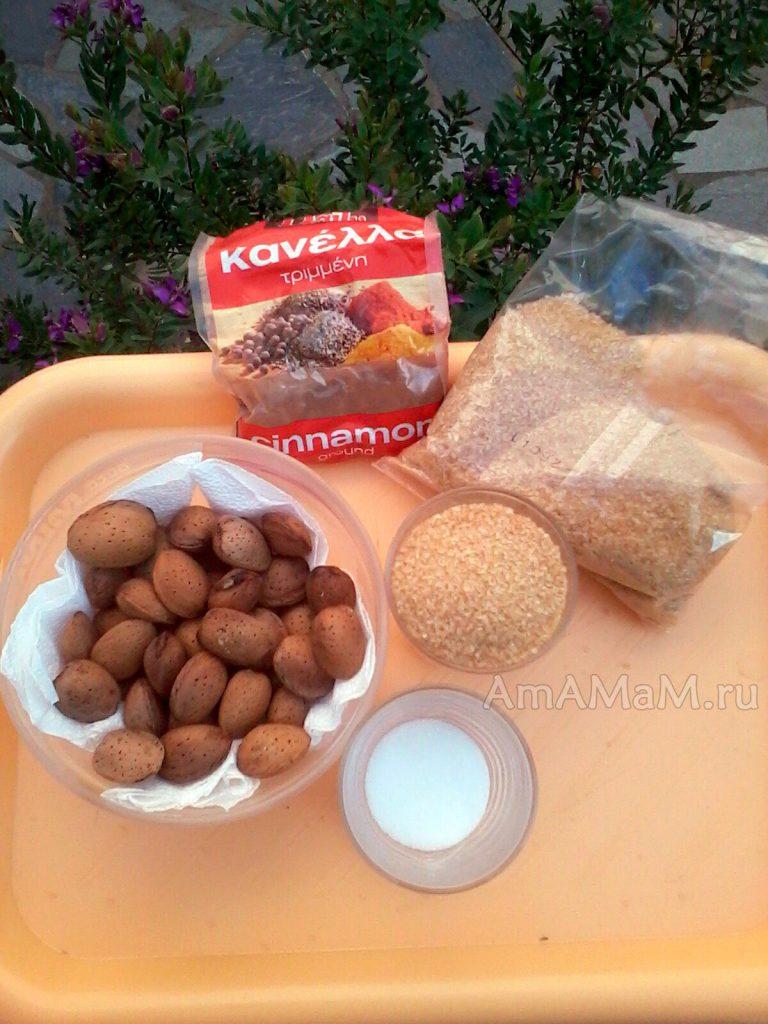 Ингредиенты минльаного грильяжа для приготовления своими руками