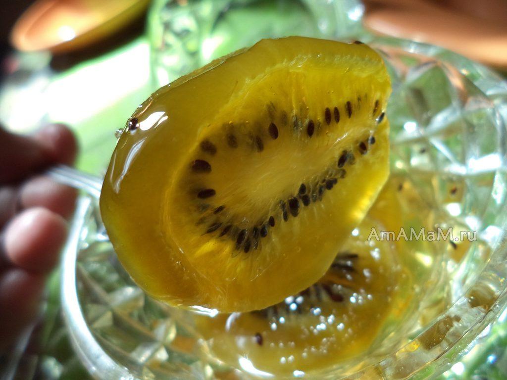 Цукаты из киви в сиропе - рецепт приготовления с подробными фото варения