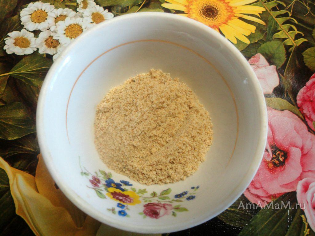 Как выглядят панировочные сухари - фото и рецепт