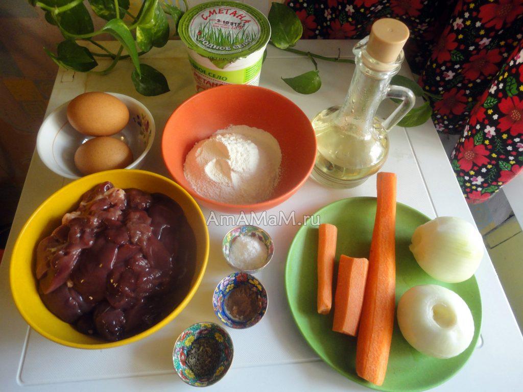 Рецепт и ингредиенты суфле из куриной печени