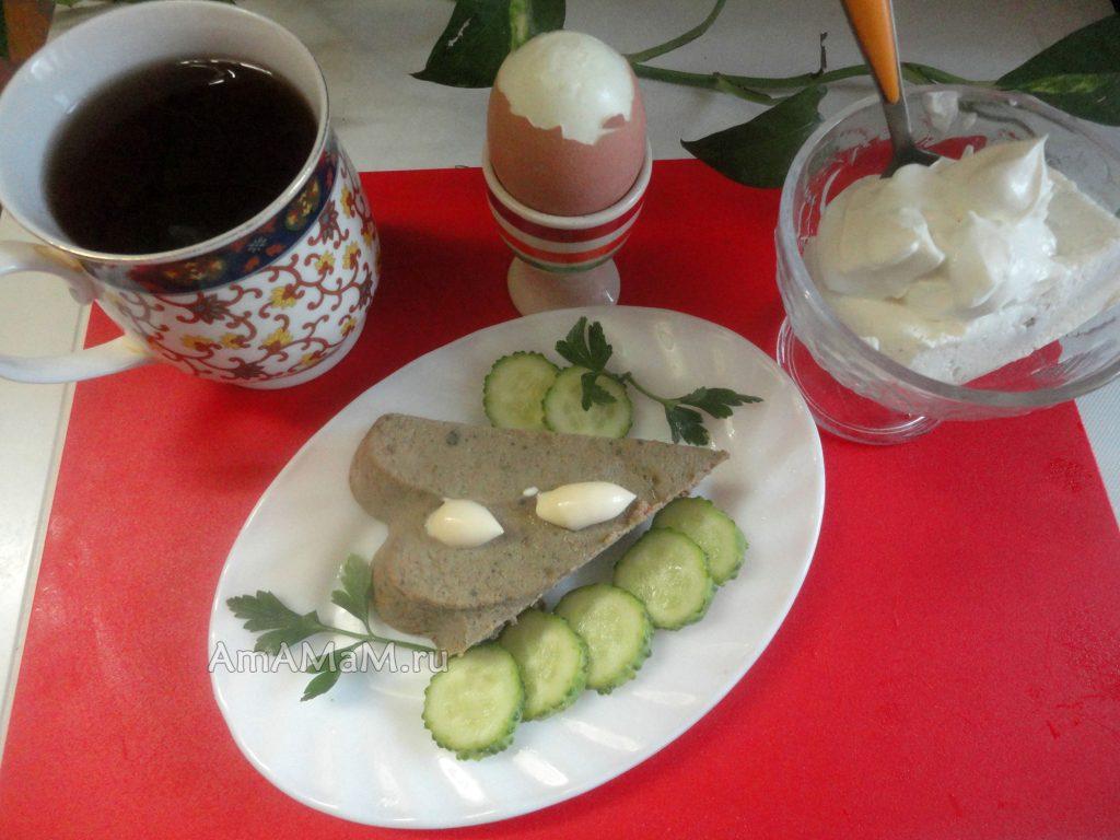 Завтрак с суфле из курной печени -фото