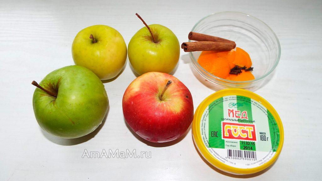 Приготовление яблочного напитка пряного с корицей и гвоздикой - ингреддиенты