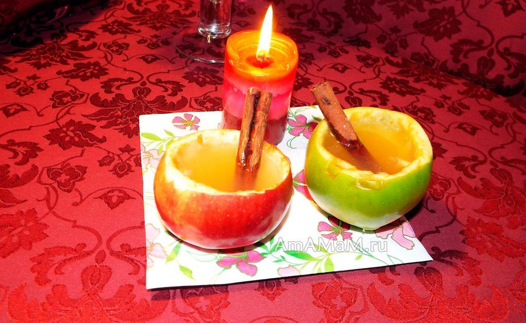 Пряный напиток из яблок с корицей, гвоздикой и медом - рецепт с фото