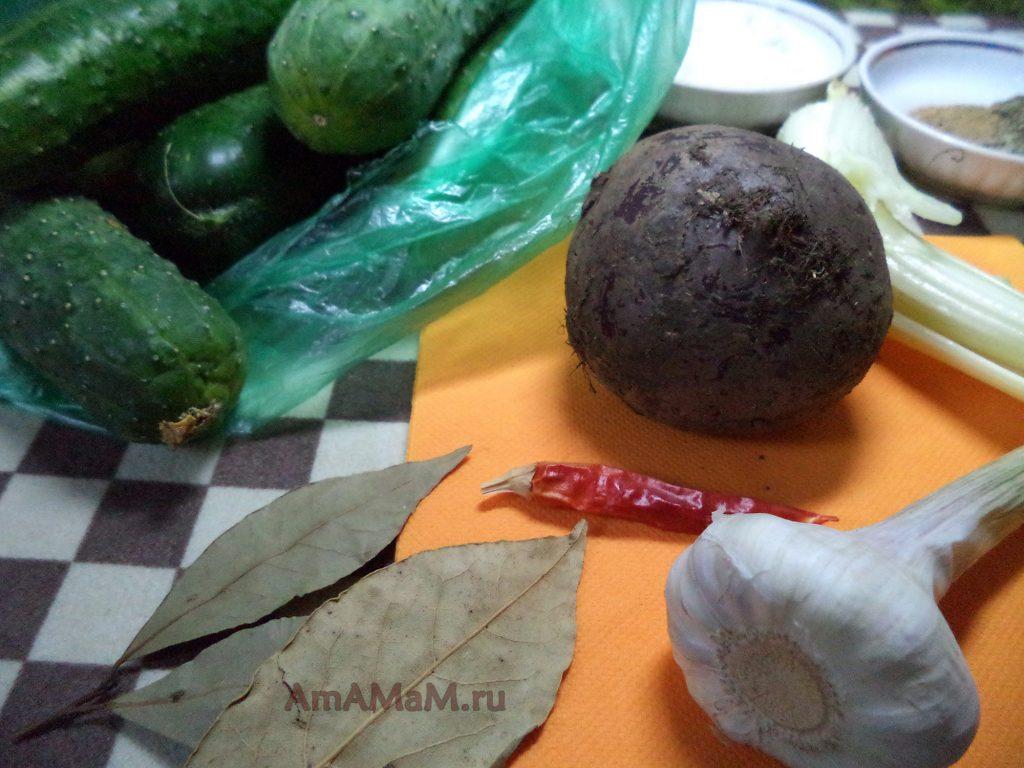 Состав продуктов для засолки огурцов