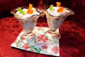 Легкий рисовый десерт с изюмо и орехами на козьем молоке