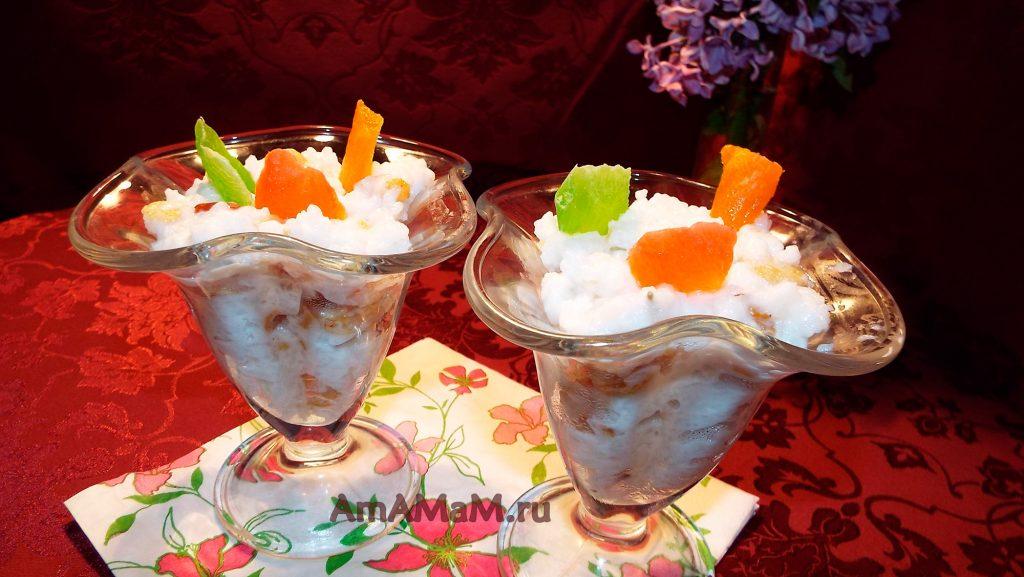 Как делают десерт из рисово каши - простые детские сладости
