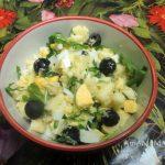 Салат с рукколой и яблоком