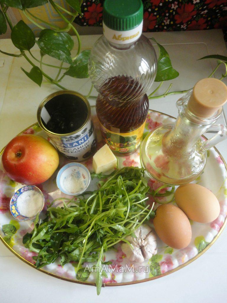 Рецепт простого салата на основе рукколы с пошаговыми фото