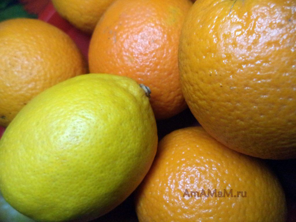 Фото лимонов и апельсинов