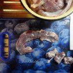 Нарезка свиной диафрагмы - фото