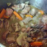 Приготовление диафрагмы с луком и морковью - фото