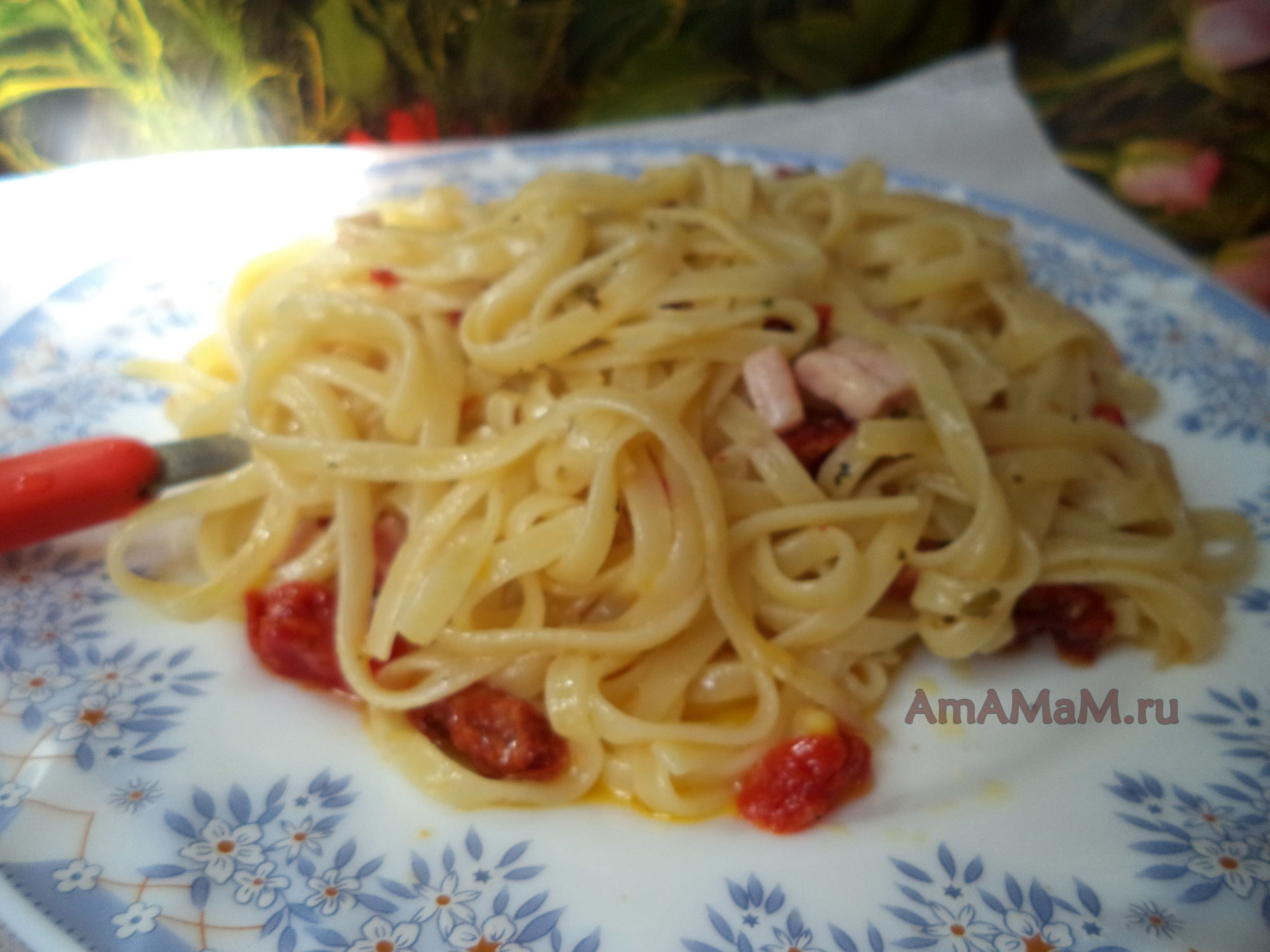 рецепт лапша в помидоре