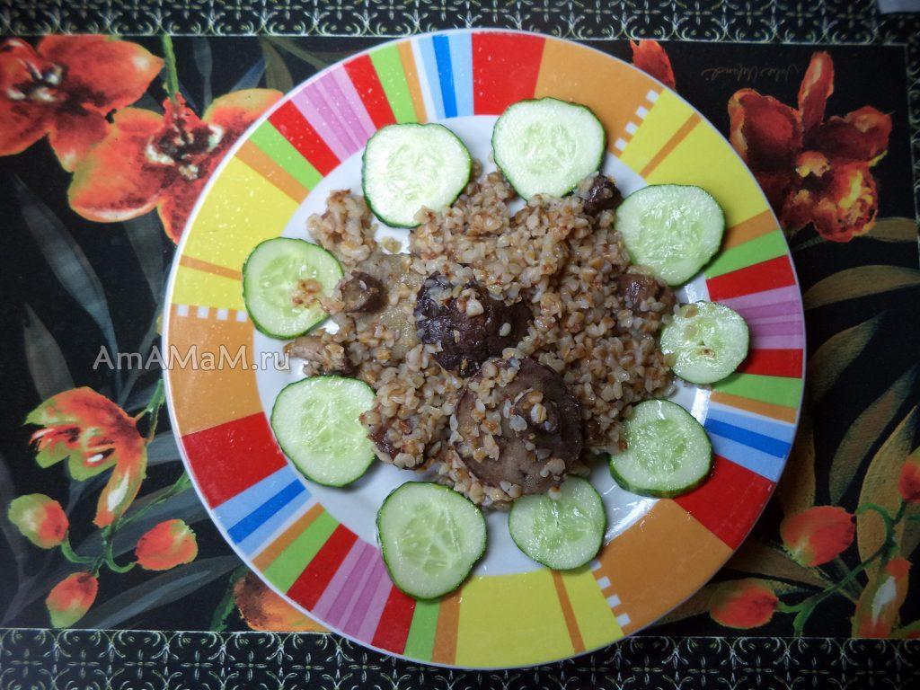 Рецепт приготовлени язамороженных маслят с гречневой кашей