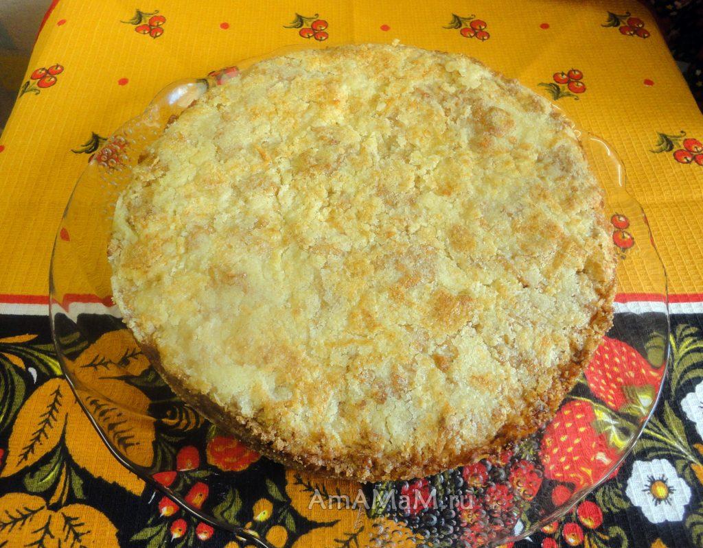 Яблочный насыпной пирог -рецепт