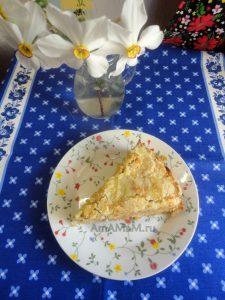 Как делают яблочный насыпной пирог - рецепт с фото
