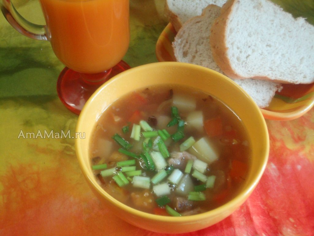 Баранина с фасолью - рецепт супа