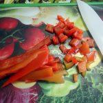 Нарезка болгарского перца - фото