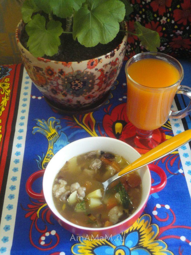 Суп из баранины (фасолевый) - рецепт с фото