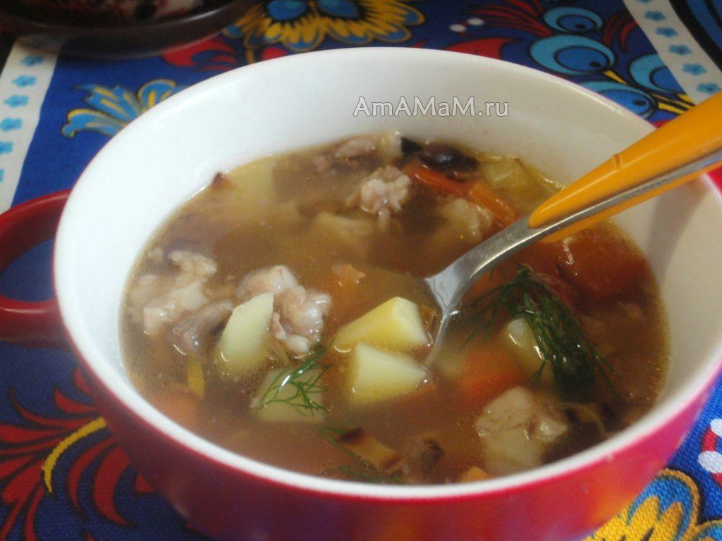 Фасоль и баранина - прекрасный домашний суп