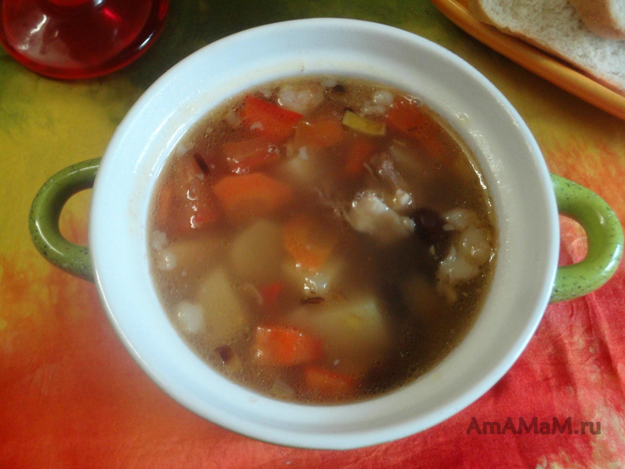 Суп из сушеной фасоли