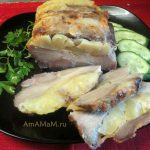 Мясо-гармошка с ананасами и сыром