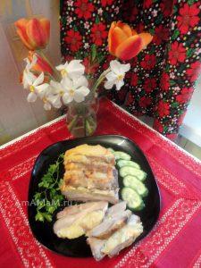 Праздничное блюдо из свиной шейки - рецепт мяса-гармошки