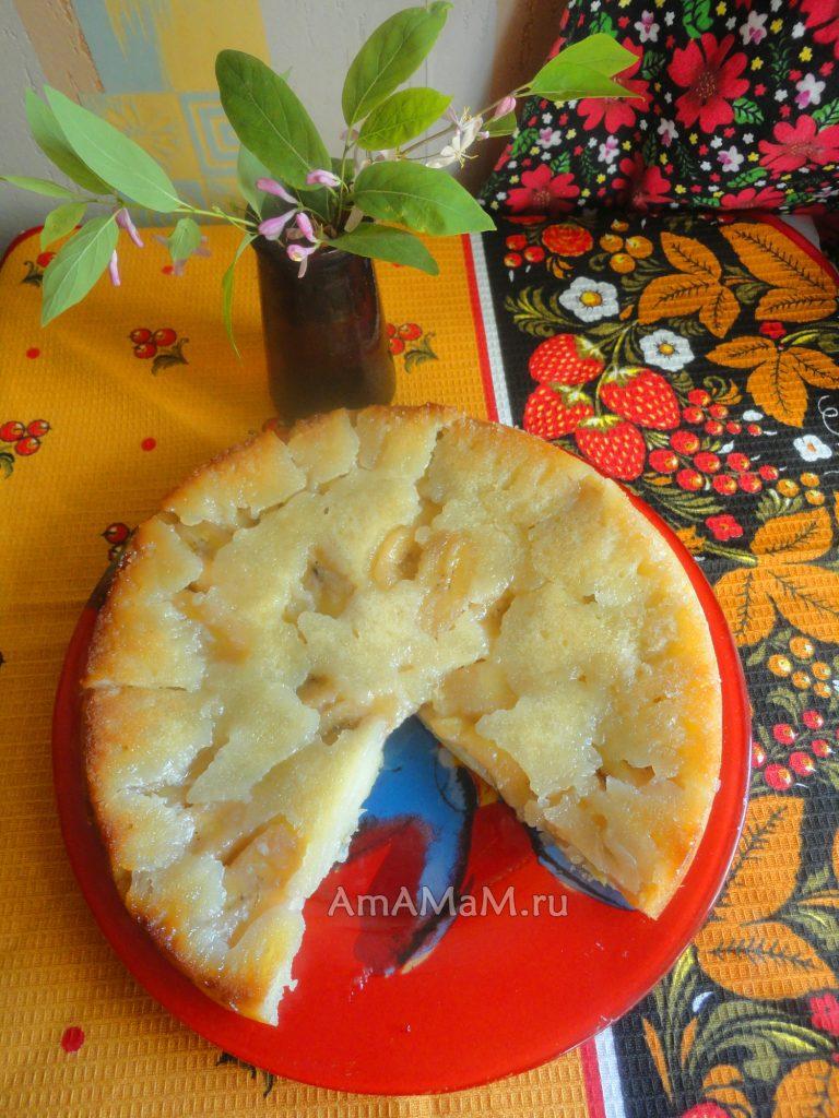 Способ приготовления бананового пирога - пропорции, рецепт и фото