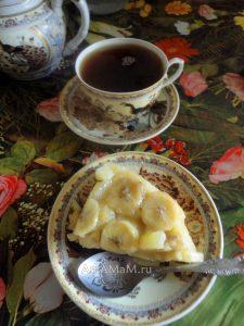 Пирог с бананами в сливочной карамели - рецепт и фото