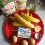 Бананы, масло, яйца, мука, сахар соль - что нужно для пирога