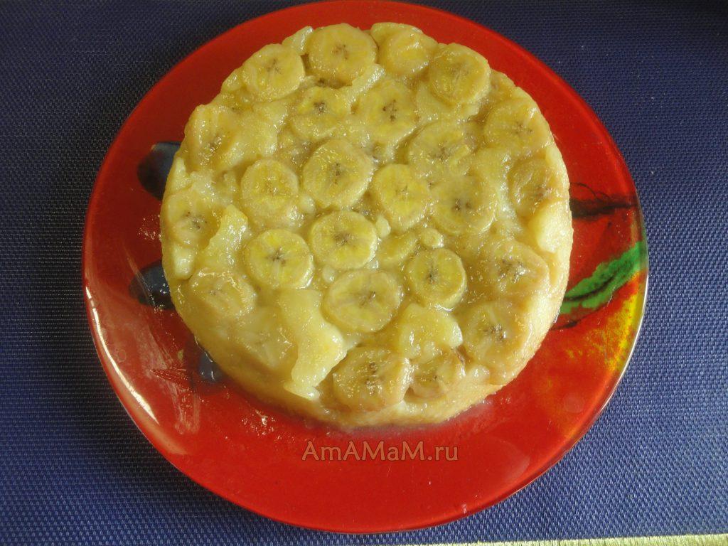 Вкусный банановый пирог - фото и рецепт