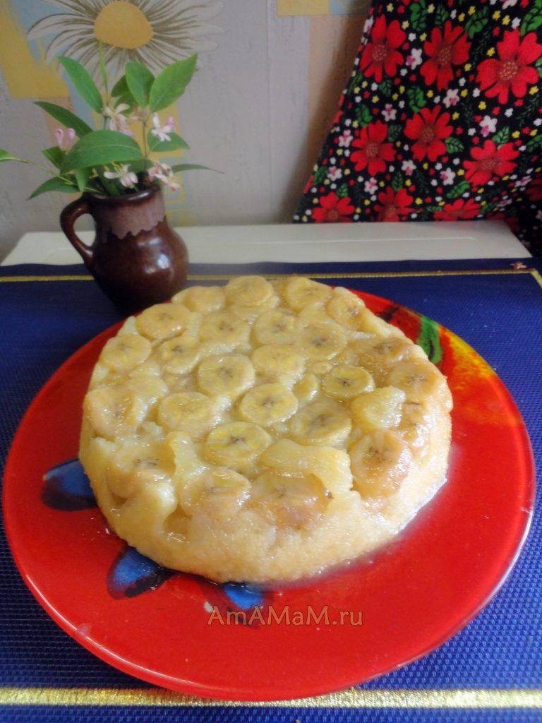 Пирог с бананами на скорую руку - рецепт и фото