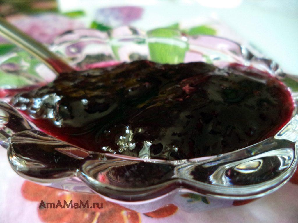 Желе (варенье) из черной смородины с сахаром - рецепт приготовления
