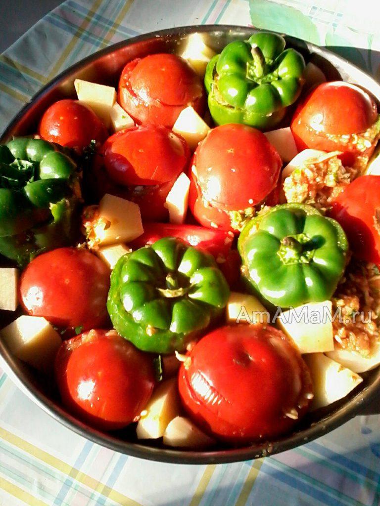 Йемиста - фаршированные овощи