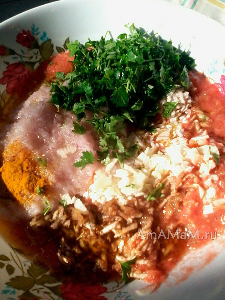 Начинка для помидоров и перца